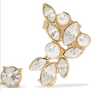 Kenneth Jay Lane Crystal Stud & Ear Cuff Set